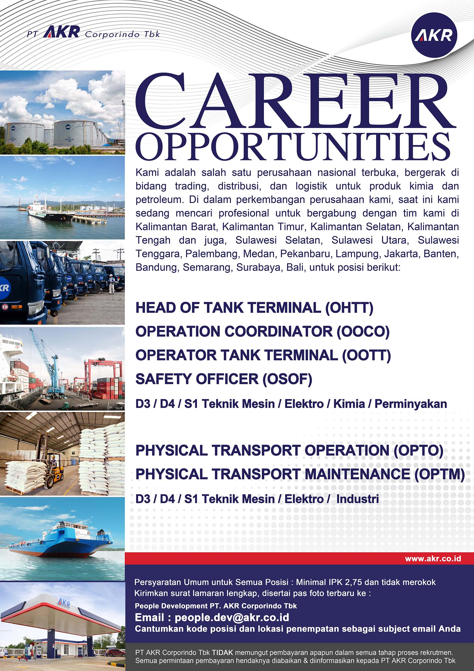 Lowongan Kerja PT AKR Corporindo Tbk Terbaru Maret 2018 ...